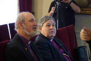 Bishops Nedelchev and Schirrmacher (left) at the meeting in Istanbul © BQ/Warnecke