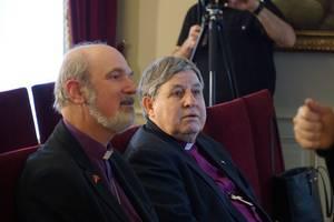Bishops Nedelchev and Schirrmacher (left) at the meeting in Istanbul © BQ/Warnecke