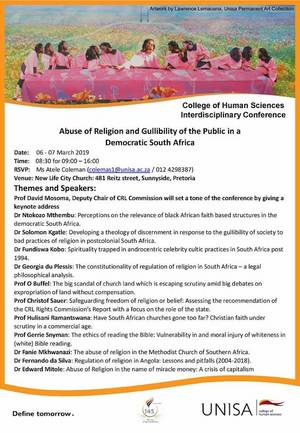 Unisa Conference Poster