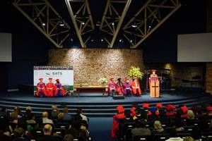 Photo: The auditorium during his commencement speech of Thomas Schirrmacher in South Africa © Esther Schirrmacher